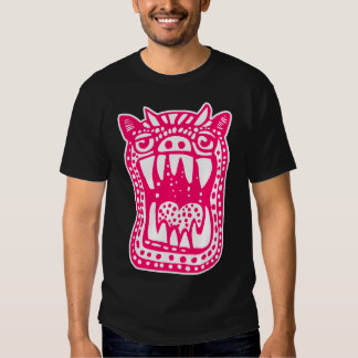 Scary Monster - Neon Red T Shirt
