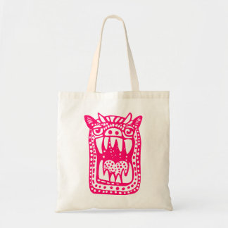 Scary Monster - Neon Red Tote Bag