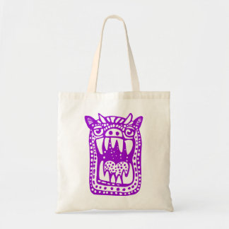 Scary Monster - Purple Tote Bags