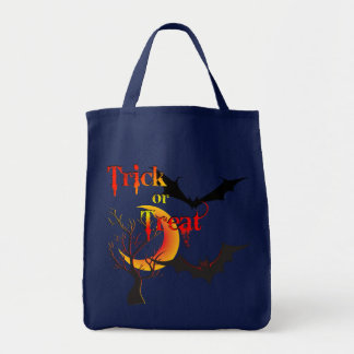 Scary Moon and Bats Halloween Bags