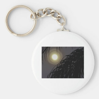 scary moon basic round button keychain