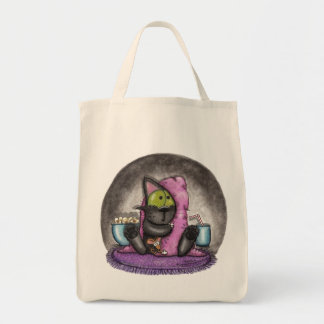Scary Movie Night-Cat and Mouse Canvas Bag