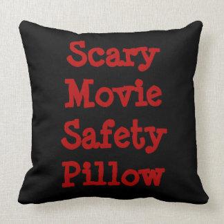 Scary Movie Safety Grade A Cotton Pillow 16x16