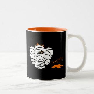 Scary Mummy Lucky Pinkie Elephant Halloween Cup Mugs