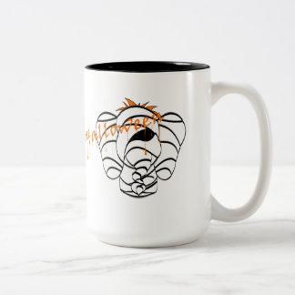 Scary Mummy Lucky Pinkie Elephant Halloween Mug