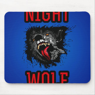 Scary Night Wolf Mouse Pad