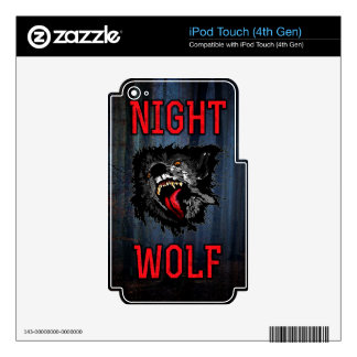 Scary Night Wolf Decals For iPod Touch 4G