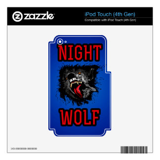 Scary Night Wolf iPod Touch 4G Skins