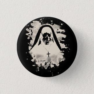 Scary now - cream white pinback button