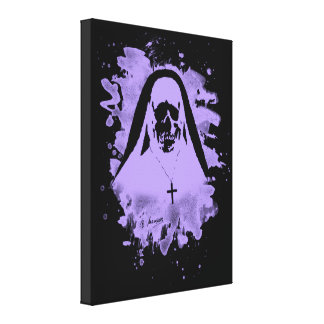 Scary now - violet canvas print