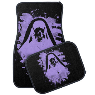 Scary now - violet car floor mat