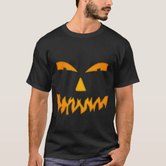 Scary Orange Glow Jack-O-Lantern Halloween Costume T-Shirt