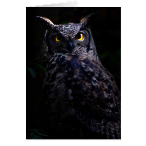 Scary owl Halloween Greeting Card