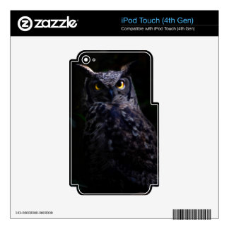 Scary owl Halloween iPod Touch 4G Skins