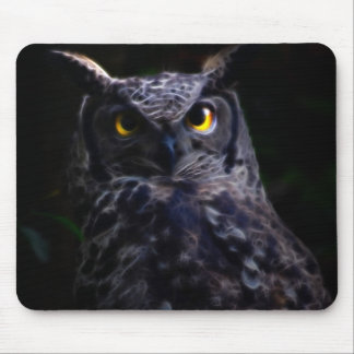 Scary owl Halloween Mouse Pad