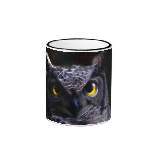Scary owl Halloween Ringer Mug