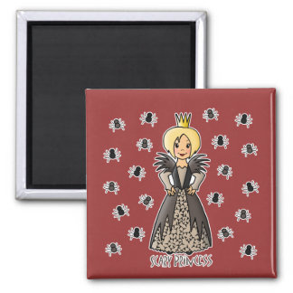 Scary Princess 2 Inch Square Magnet