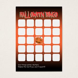 Scary Pumpkin 5x5 Halloween Party Bingo Card