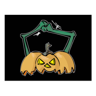 Scary-Pumpkin-Arms Post Card