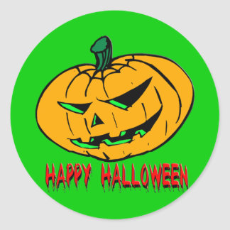 Scary Pumpkin Classic Round Sticker