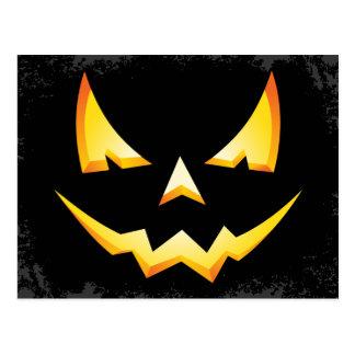 Scary Pumpkin Custom Halloween Postcard
