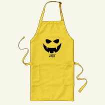 Scary Pumpkin Face Halloween Apron