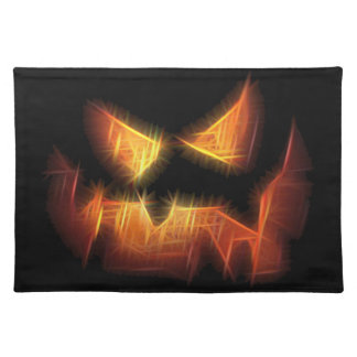 Scary Pumpkin Face Placemat