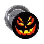 Scary Pumpkin Face Style C Button