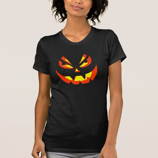Scary Pumpkin Face Style C T-shirt