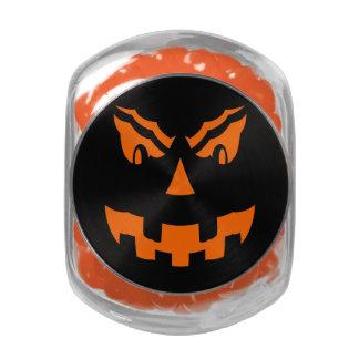 scary pumpkin glass jars