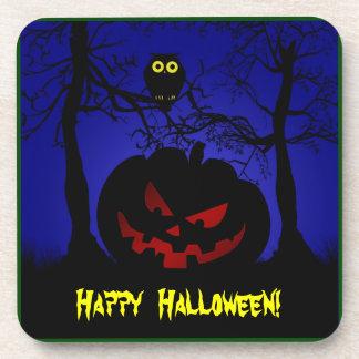 Scary Pumpkin Halloween Beverage Coaster