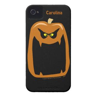 Scary Pumpkin Halloween Cool Custom Name Case-Mate iPhone 4 Case