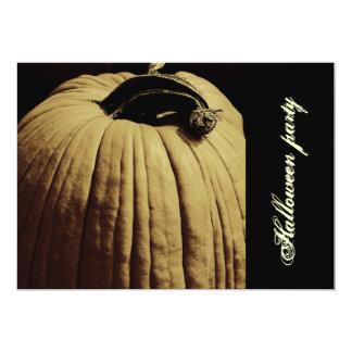 scary pumpkin Halloween party invite