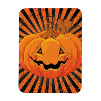Scary Pumpkin Jack O' Lantern Rectangular Photo Magnet