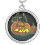 Scary Pumpkin Necklace