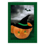 Scary Pumpkin Patch Halloween Card