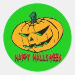 Scary Pumpkin Stickers
