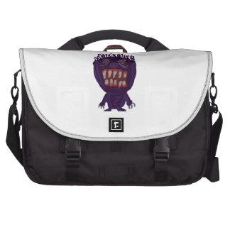Scary Purple Monster Laptop Messenger Bag