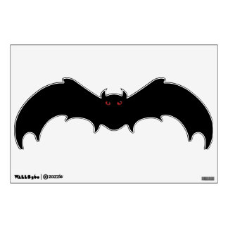 Scary Red Eyed Bat Wall Decal
