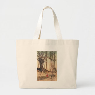 Scary Red Riding Hood Large Tote Bag