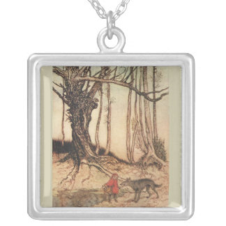 Scary Red Riding Hood Silver Plated Necklace