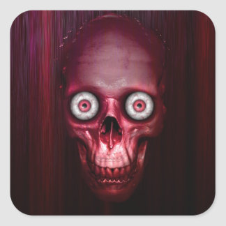 Scary red skull stickers