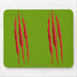 Scary Ripped Torn Evil Claw Marks Halloween Horror Mouse Pad