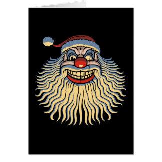 Scary Santa Clown Greeting Cards
