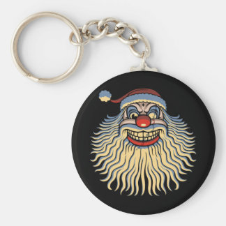 Scary Santa Clown Keychain
