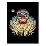 Scary Santa Clown Postcard