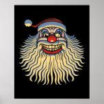 Scary Santa Clown Poster