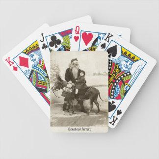 Scary Santa Playing Cards