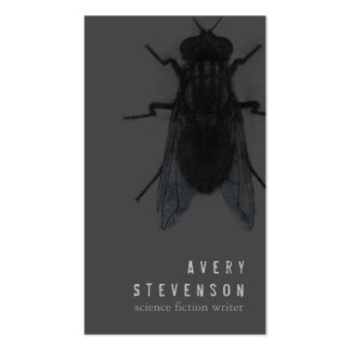 Scary Science Fiction Writer Black House Fly Business Card Templates