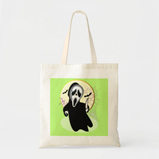 Scary Screaming Ghost Face Horror Graphic Tote Bag